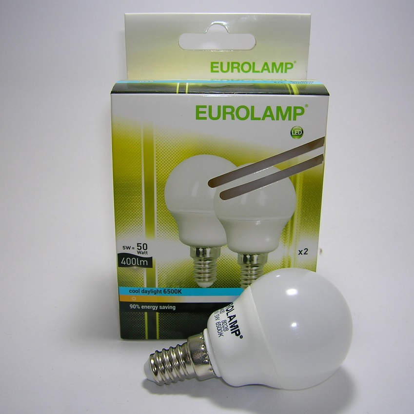 Lot de 2 Ampoules LED G45 5W - E14 - 6500 kelvin