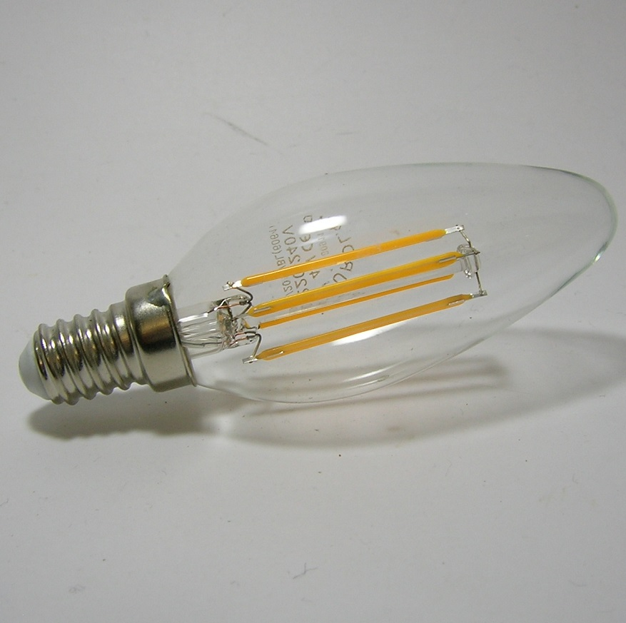 Ampoule LED Flamme Filament E14 1W 3W ou 4W