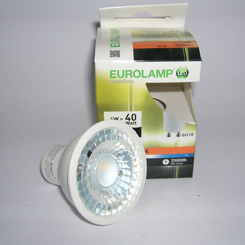 LED GU10 4W Transparent - 3000 kelvin
