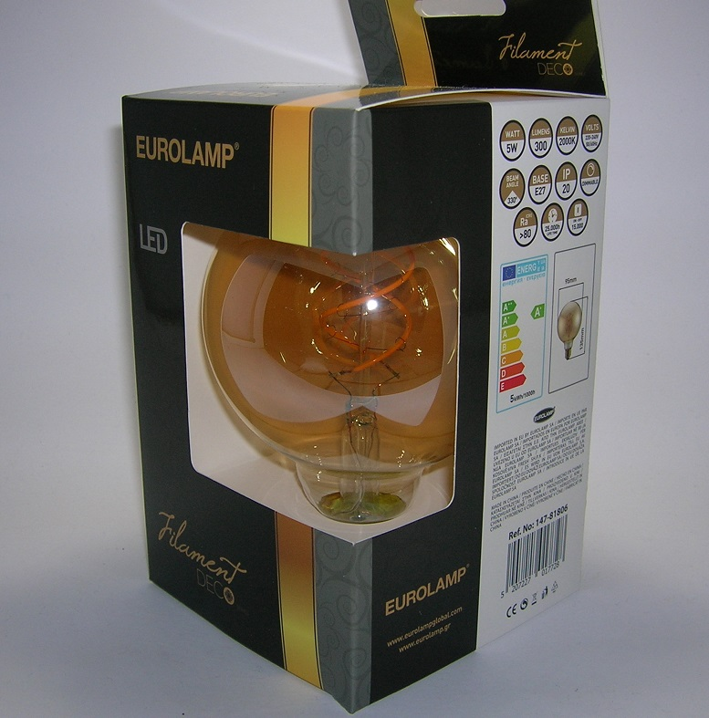 LED Filament décor Globe G95 Gold-1