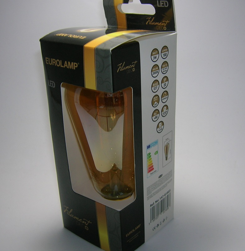 LED Filament décor ST64 3W Gold-2