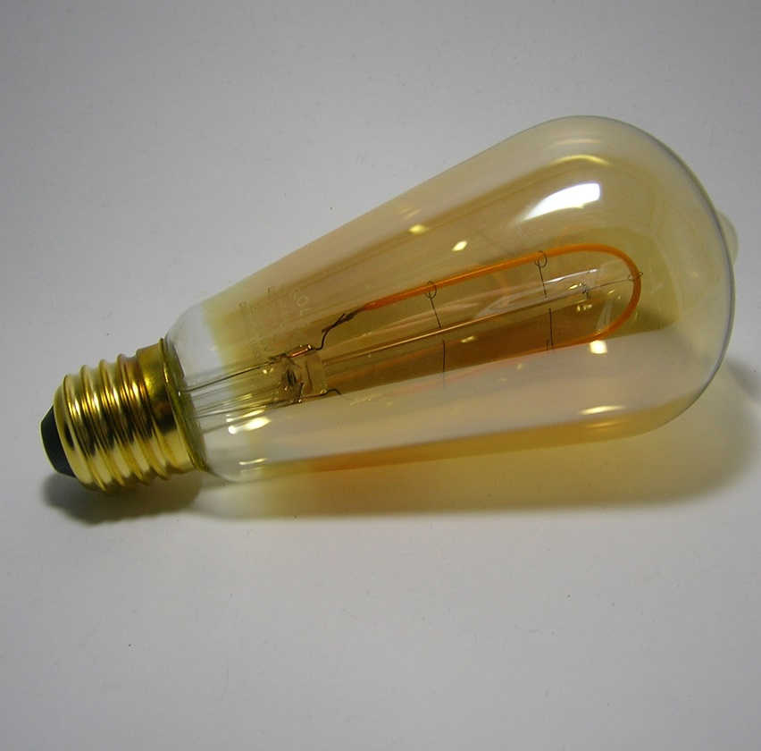Ampoule LED Filament Déco ST64 Gold 3W Gradable