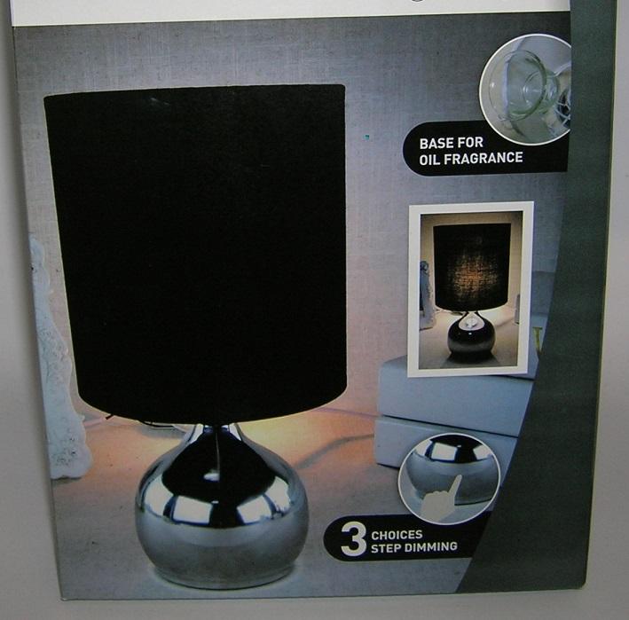 Lampe de chevet tactile noire