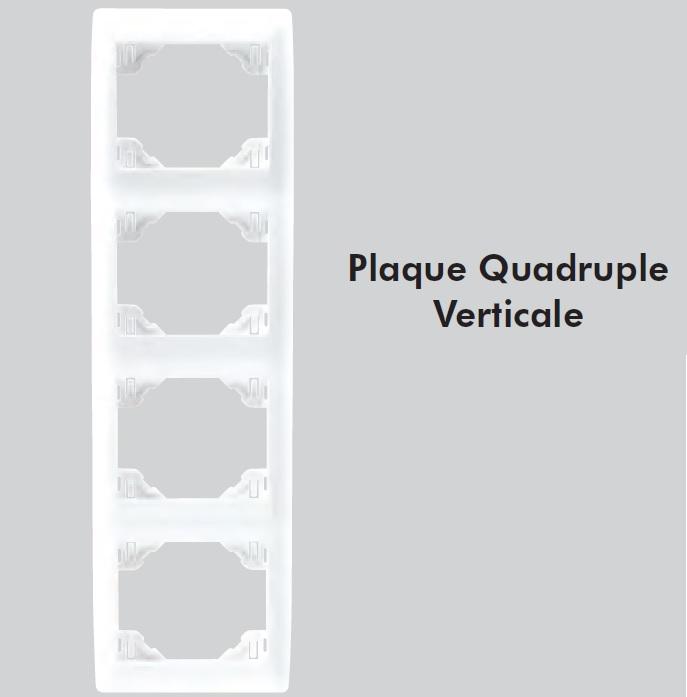 plaque quadruple sirius70 verticale
