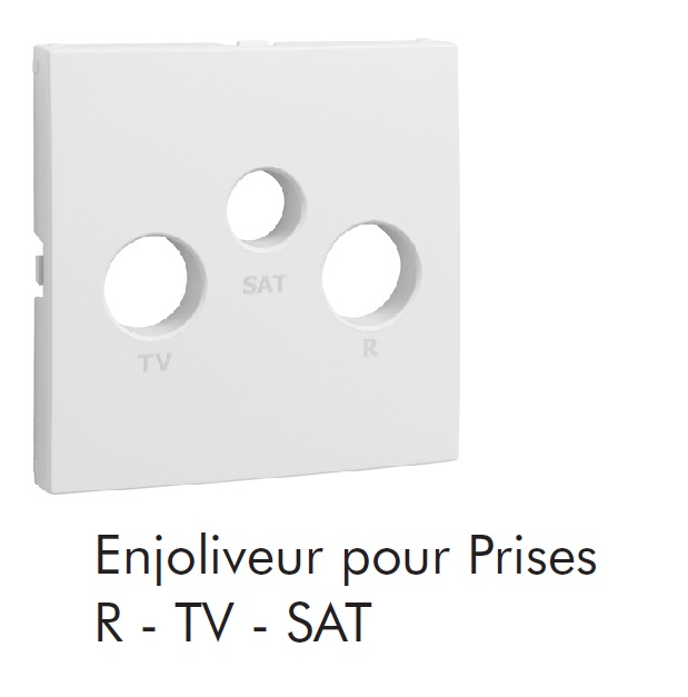 Enjoliveur pour Prise R-TV-SAT 3 sorties LOGUS90