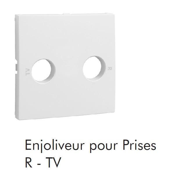 Enjoliveur de prise R-TV - 2 sorties LOGUS90