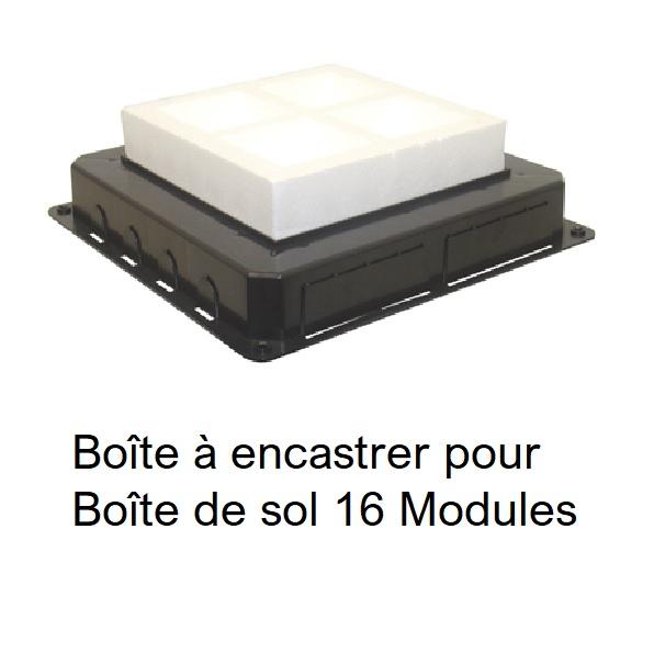 Boîte à encastrer pour Boîte de Sol 16 Modules