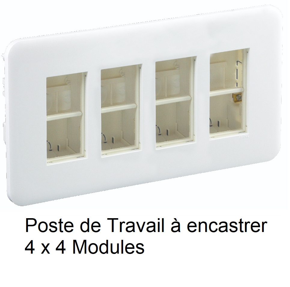 Poste de Travail à encastrer - 4 x 4 Modules