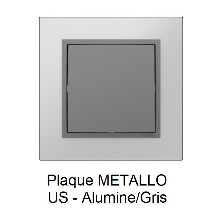 Plaque METALLO Alumine Gris 90910TUS
