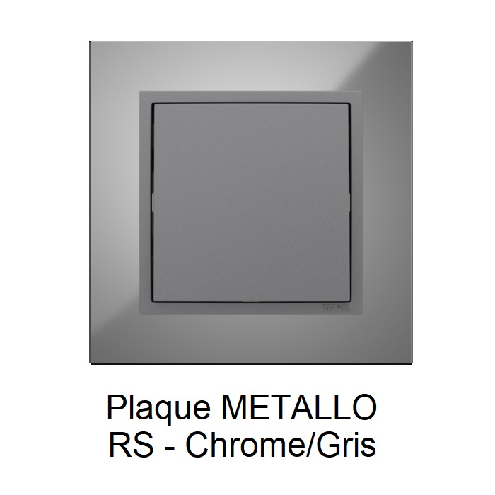 Plaque LOGUS90 METALLO - Chrome/Gris