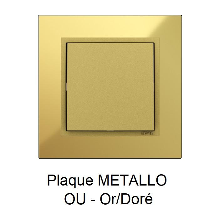 Plaque METALLO Or Doré 90910TOU