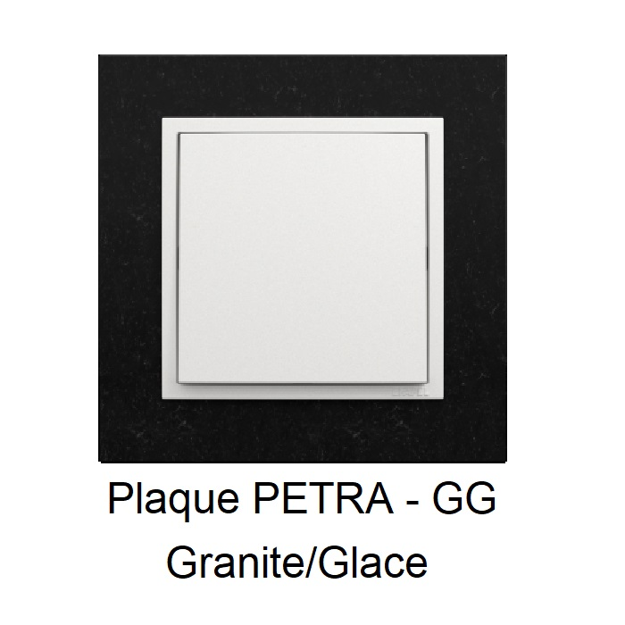 Plaque LOGUS90 PETRA - Granite/Glace