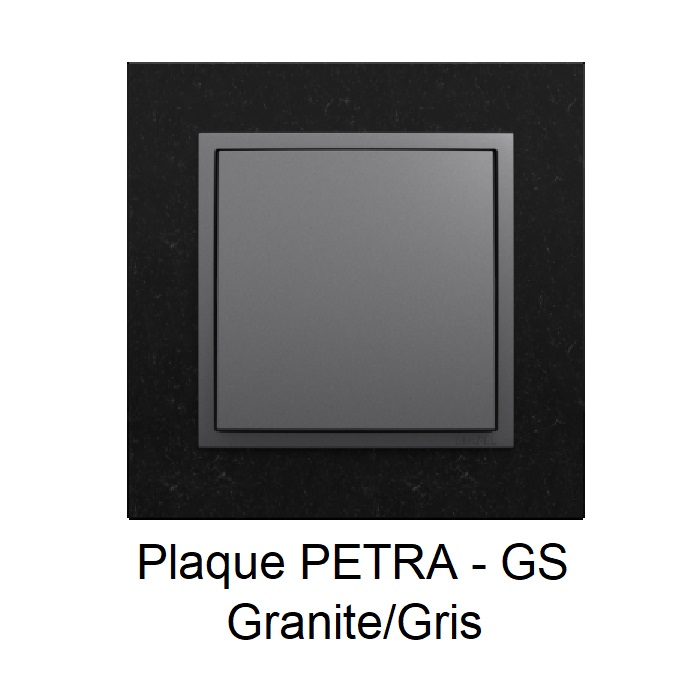 Plaque LOGUS90 PETRA - Granite/Gris