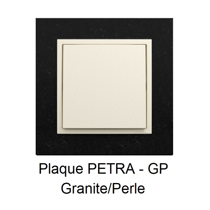 Plaque LOGUS90 PETRA - Granite/Perle