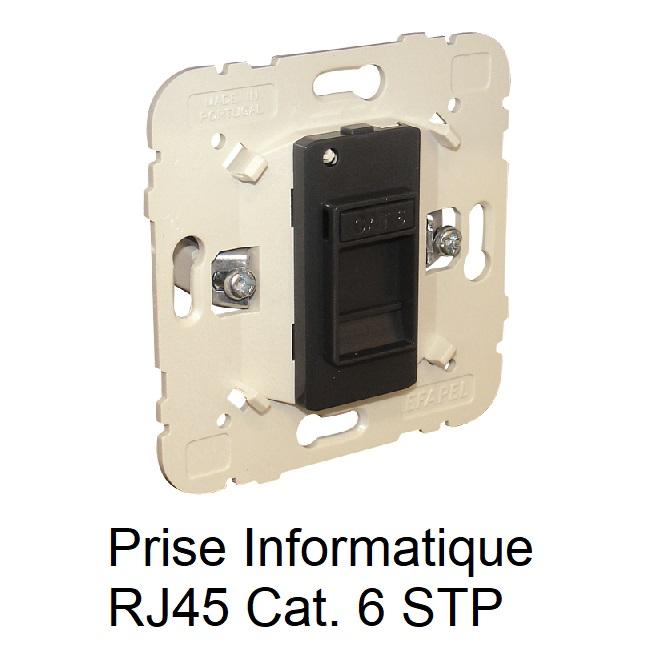 Mécanisme Prise informatique RJ45 Cat. 6 STP