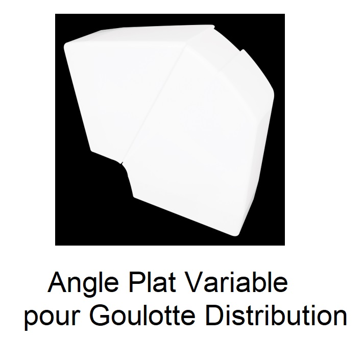 Angle Plat Variable pour Goulotte de distribution Série 10