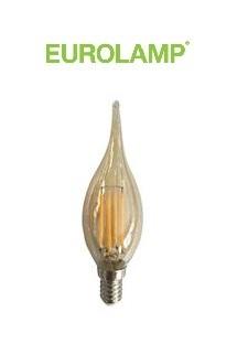ampoule LED Filament Flamme Coup de vent dorée Eurolamp
