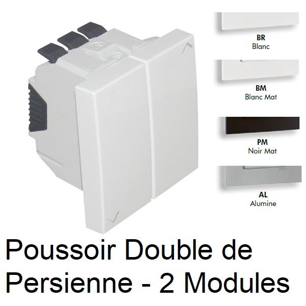 Poussoir Double de Persienne - 2 Modules Quadro45