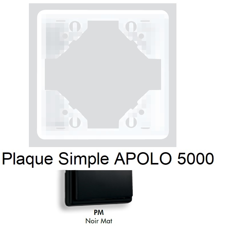 Plaque APOLO 5000 MAT - Noir MAT