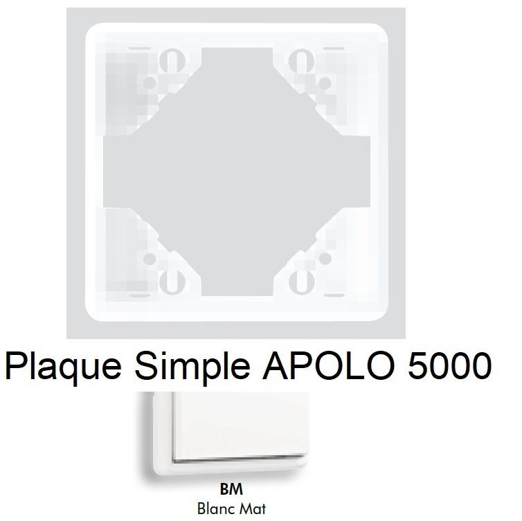 Plaque APOLO 5000 MAT - Blanc MAT