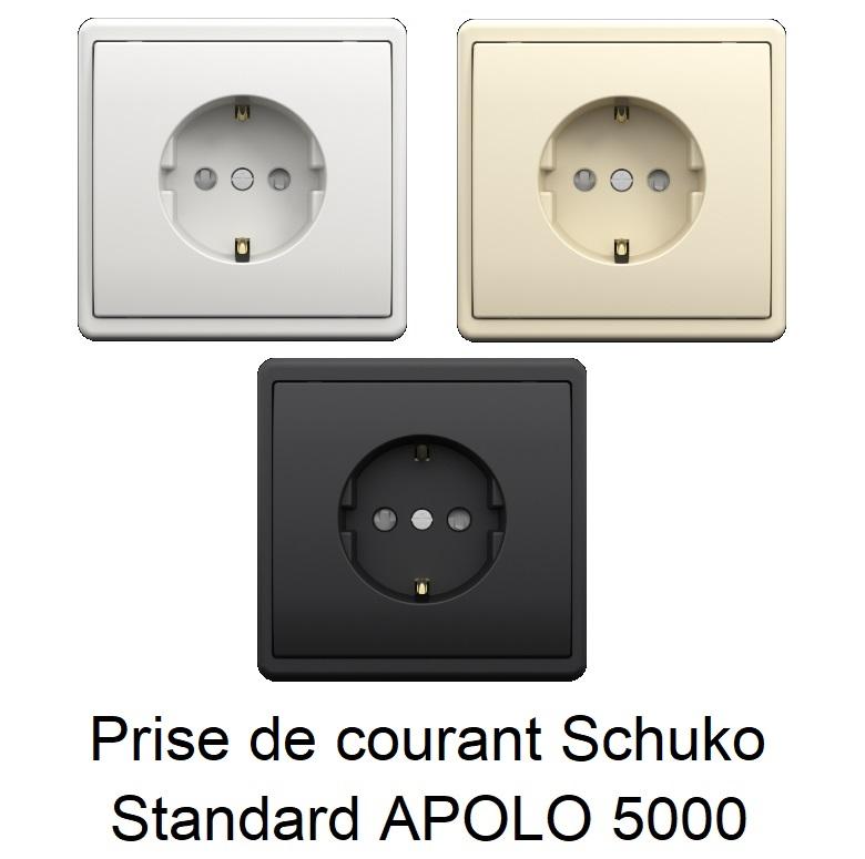 Prise de courant Schuko avec protection - APOLO 5000 Standard