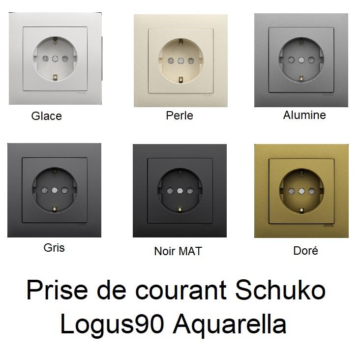 Prise de courant Schuko - Logus90 Aquarella