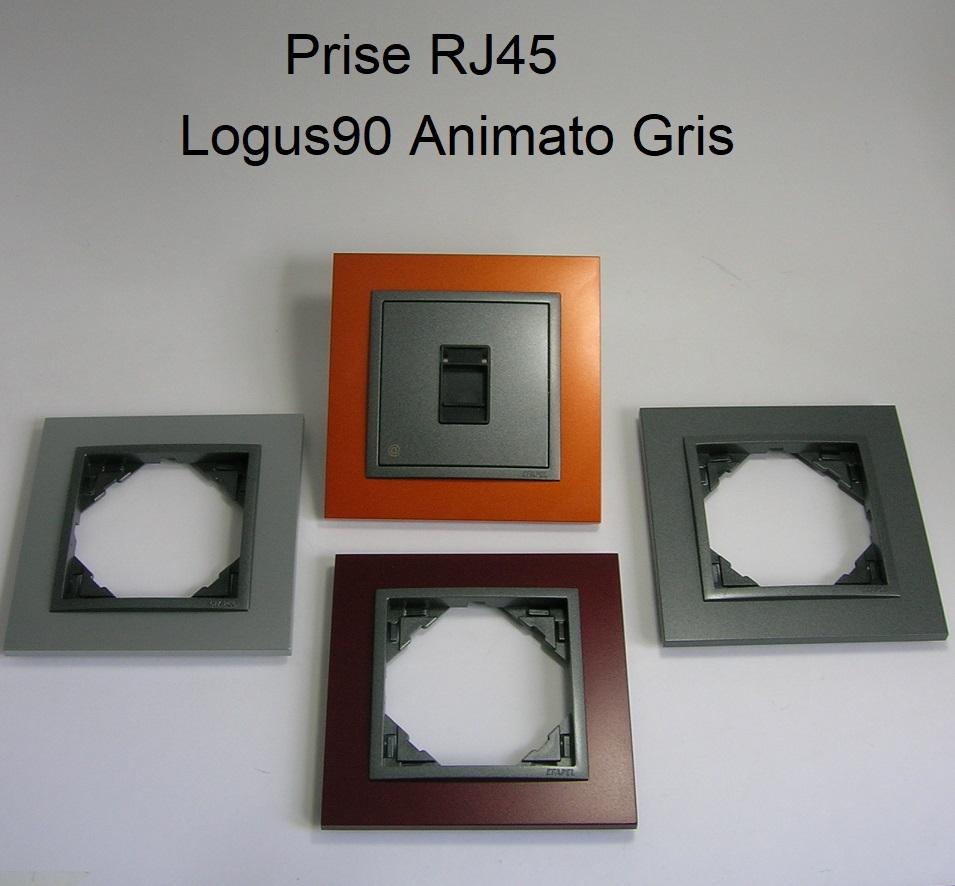 Prise Informatique RJ45 Logus90 - Animato Gris