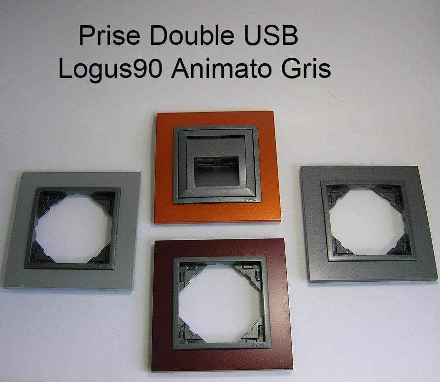 Chargeur Double USB - Logus90 Animato Gris