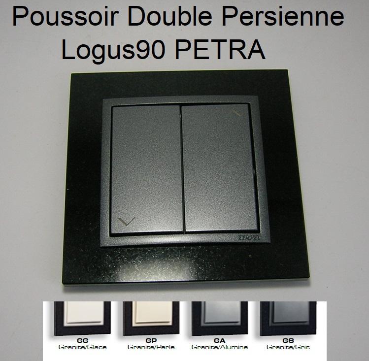 Poussoir Double de Persienne - logus90 PETRA