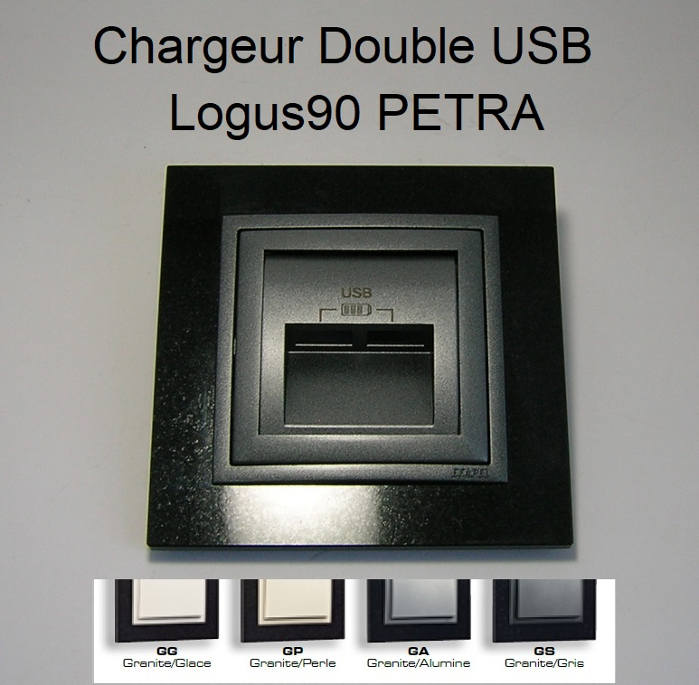Chargeur Double USB - Logus90 PETRA