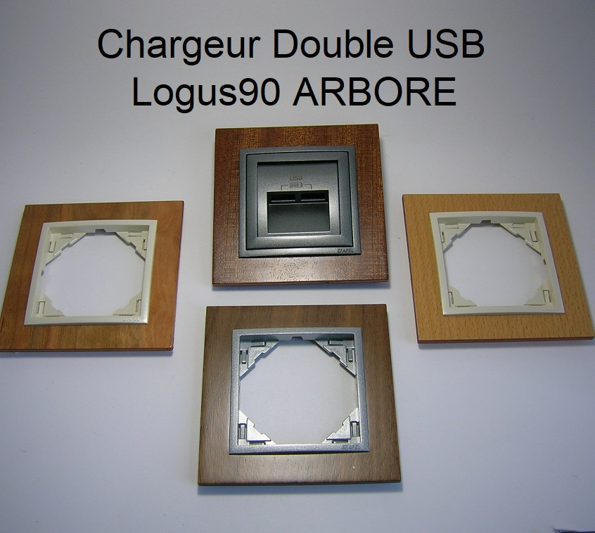Chargeur Double USB - Logus90 ARBORE