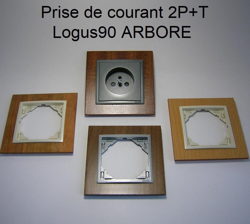 Prise de courant Française 2P+T - Logus90 ARBORE