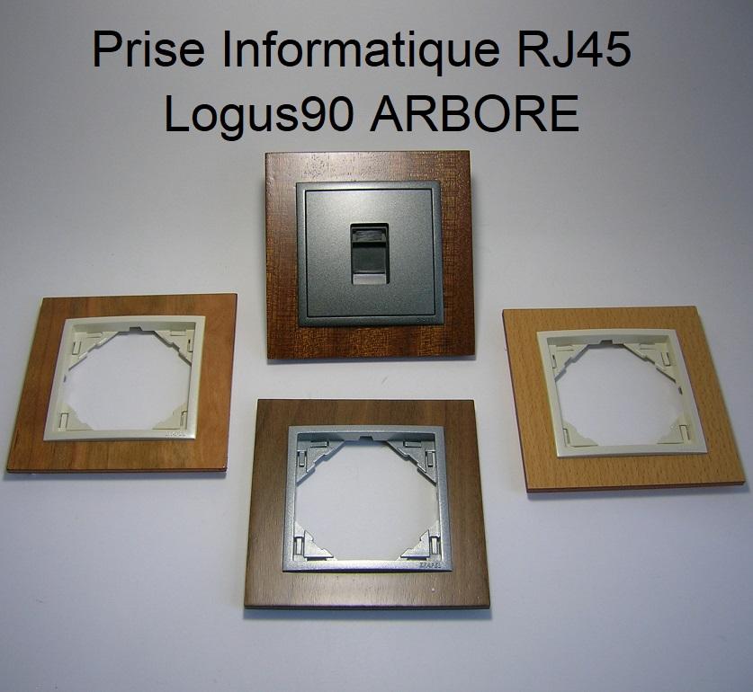 Prise Informatique RJ45 - Logus90 ARBORE