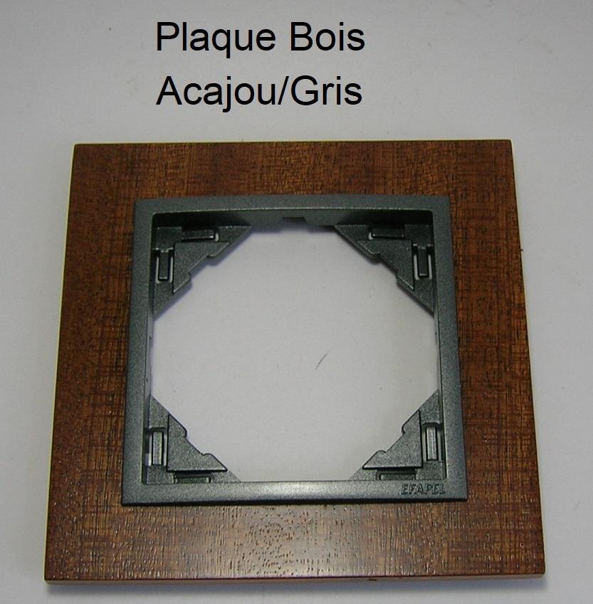 Plaque Bois LOGUS90 ARBORE - Acajou/Gris