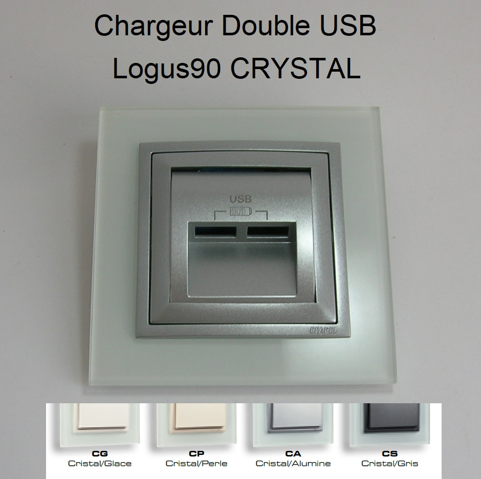 Chargeur Double USB - Logus90 CRYSTAL