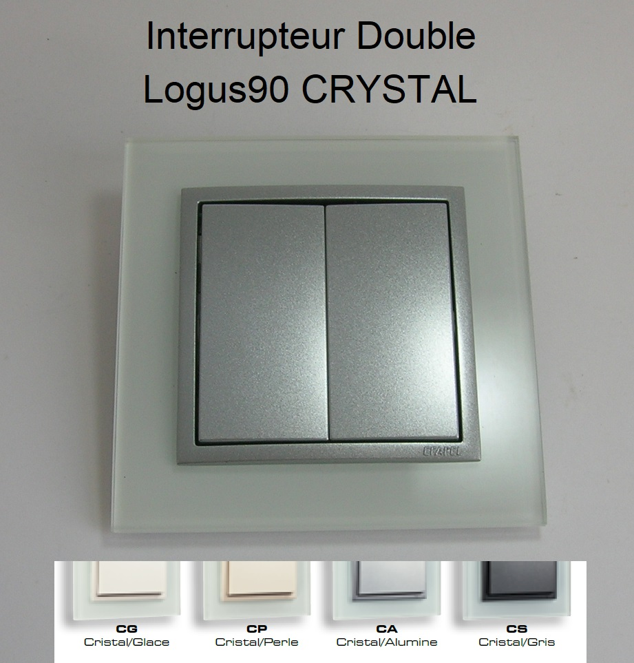 Interrupteur Double - Logus90 CRYSTAL