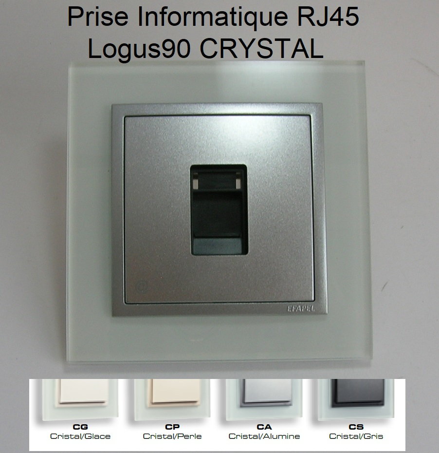 Prise Informatique RJ45 - Logus90 CRYSTAL