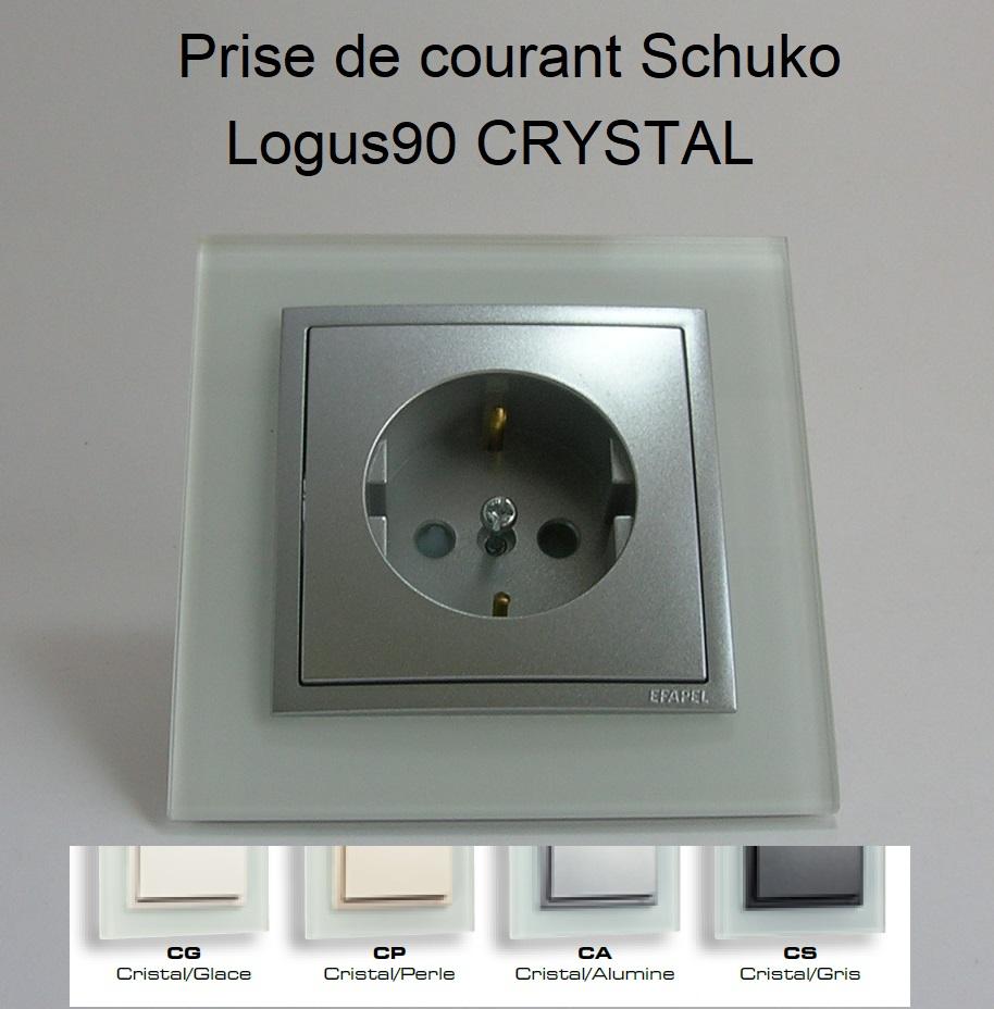 Prise de courant Schuko - Logus90 CRYSTAL