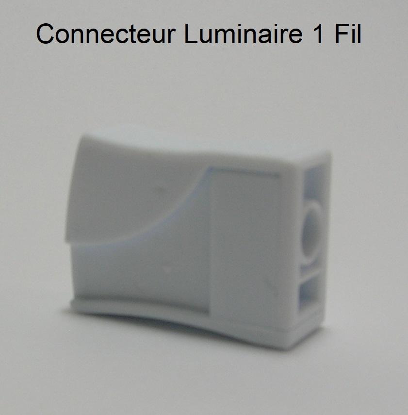 Borne de connexion automatique Fil souple / Fil rigide - 1 trou
