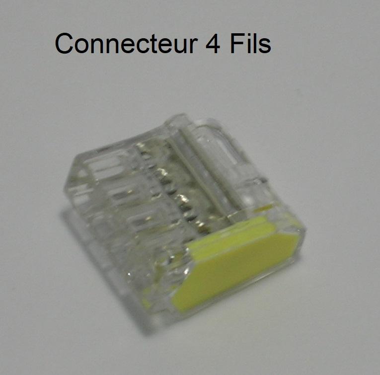 Bornes de connexion automatique mini - 4 trous