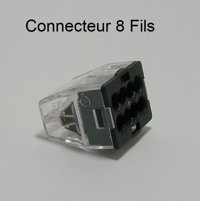 Bornes de connexion automatique mini - 8 trous