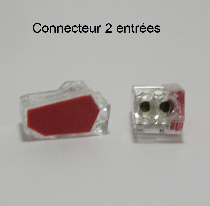 Borne de connexion automatique mini - 2 trous