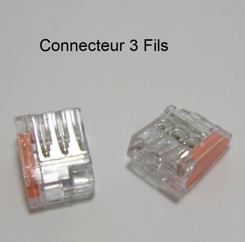 Bornes de connexion automatique mini - 3 Trous