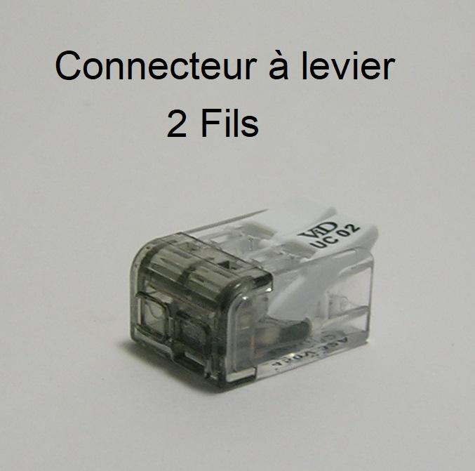 Connecteur à levier - 2 Trous