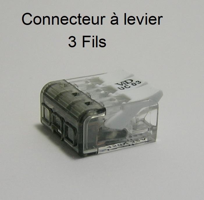 Connecteur à levier - 3 Trous