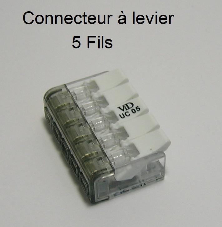Connecteur à levier - 5 Trous