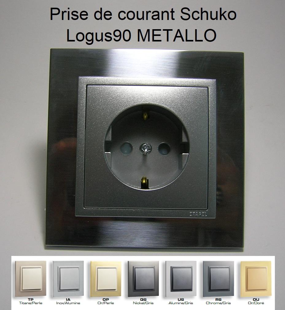 Prise de courant Schuko - Logus90 METALLO