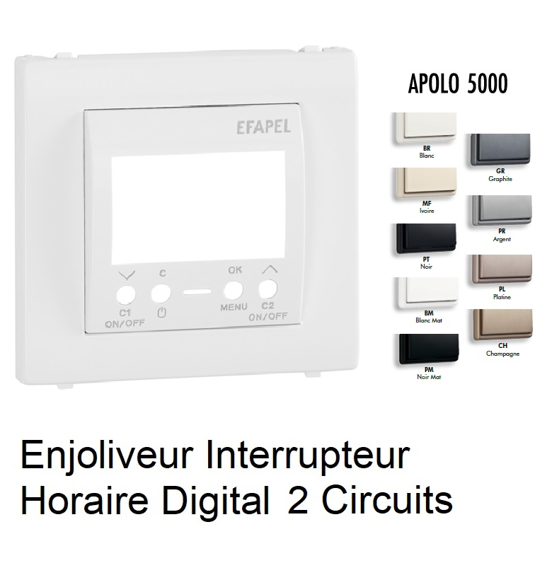 Enjoliveur Interrupteur Horaire Digital 2 circuits - Apolo5000