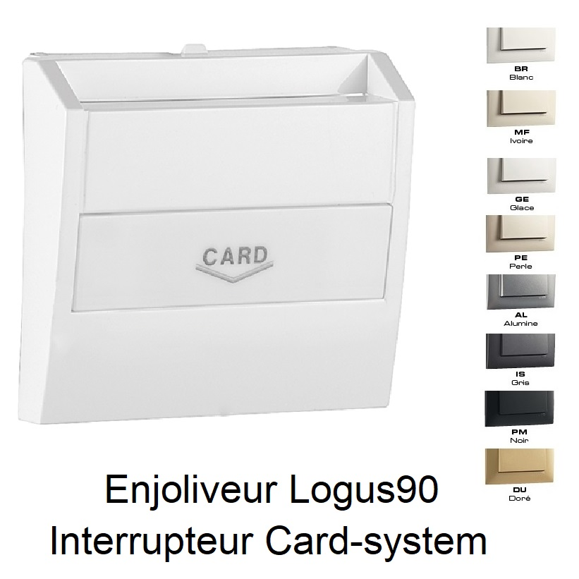 Enjoliveur pour Interrupteur Card-system - Logus90