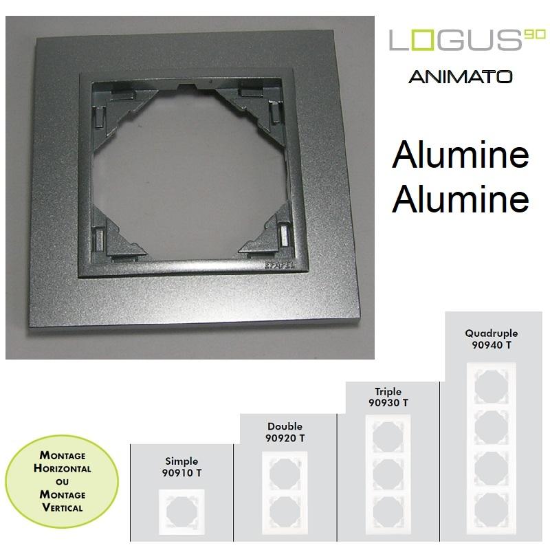 Plaque Animato Alumine/Alumine LOGUS90